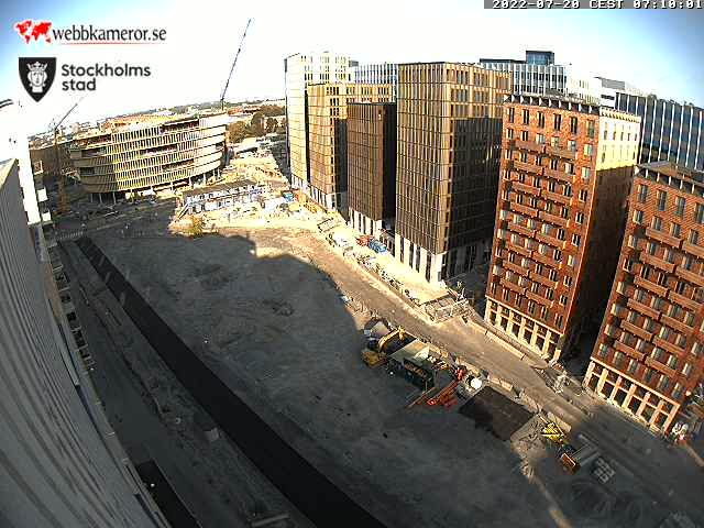 Webbkamera - Hagastaden, Stockholm.